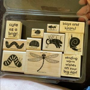 2006 Stampin' Up! Bugs & Kisses 11 pc set
